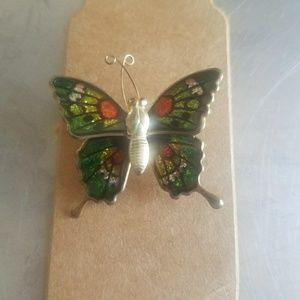 Women's Vintage Butterfly Brooch